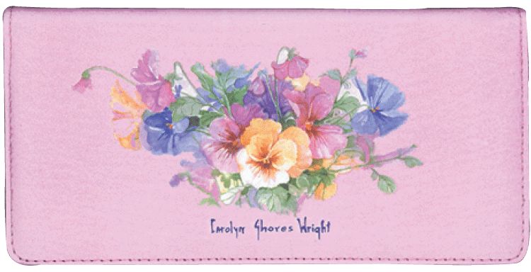 Pansies Checkbook Cover - click to view larger image