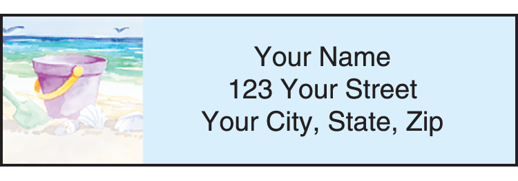 Seaside Address Labels - click to preview