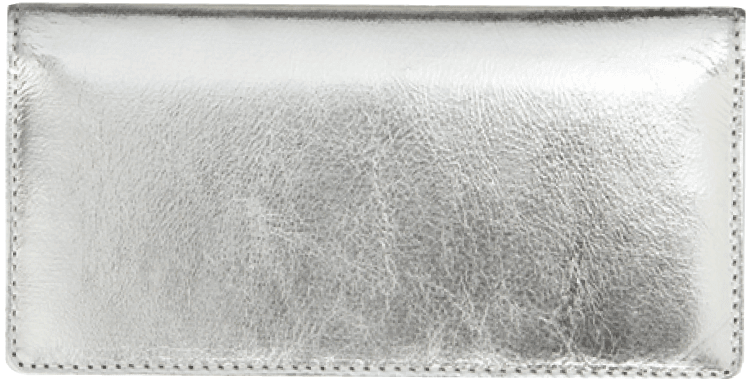 Silver Metallic Checkbook Cover - click to view larger image