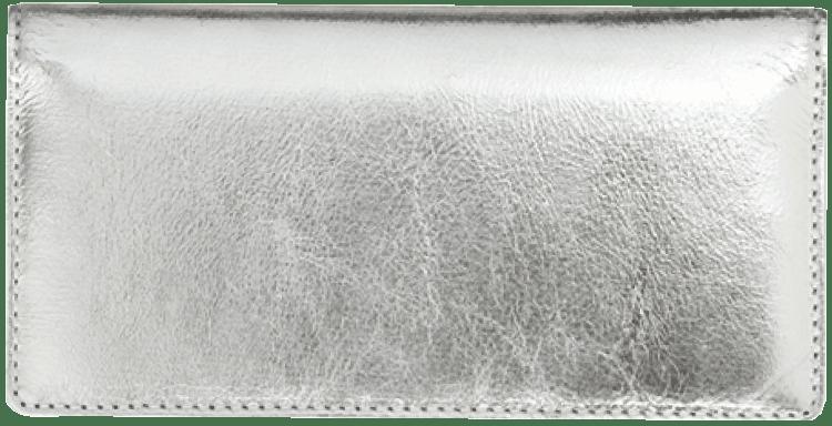 Silver Metallic Checkbook Cover