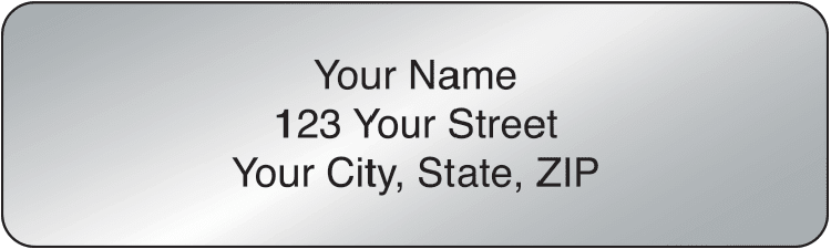 Silver Rolled Address Labels - click to view larger image