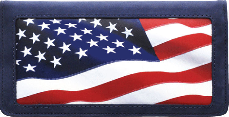 Stars & Stripes Side Tear Checkbook Cover - click to view larger image