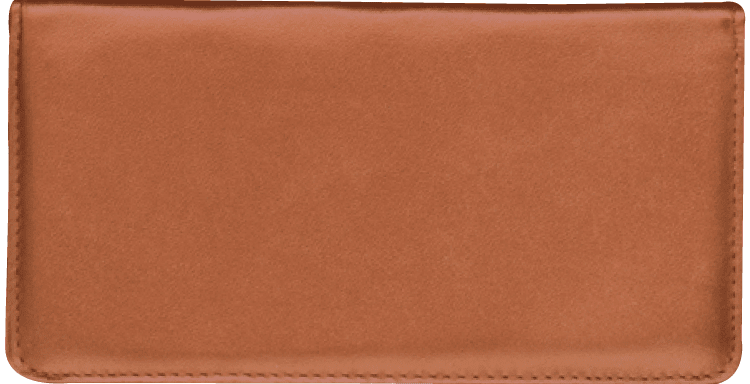 Tan Side Tear Checkbook Cover