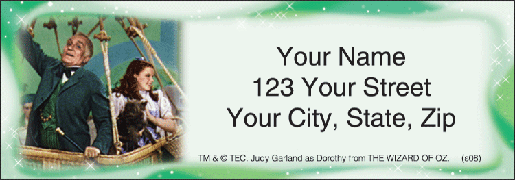 Enlarged view of The Wizard of Oz Address Labels