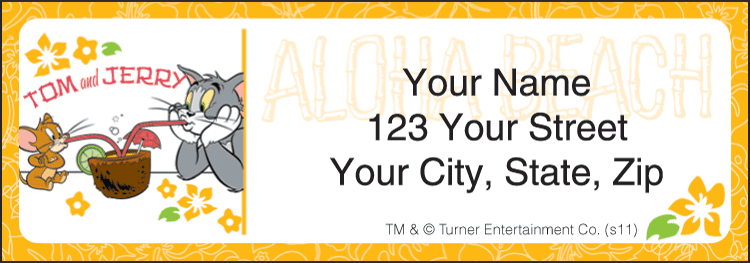 Tom & Jerry New Address Labels