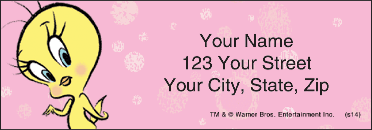 totally tweety address labels - click to preview