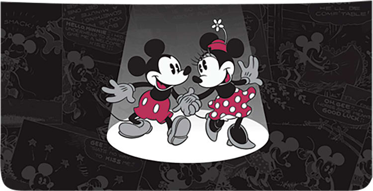 Mickey and Minnie Mouse Side Tear Checkbook Covers
