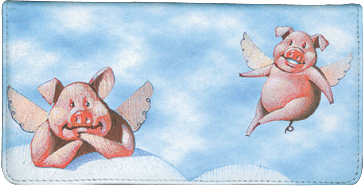 When Pigs Fly Checkbook Cover