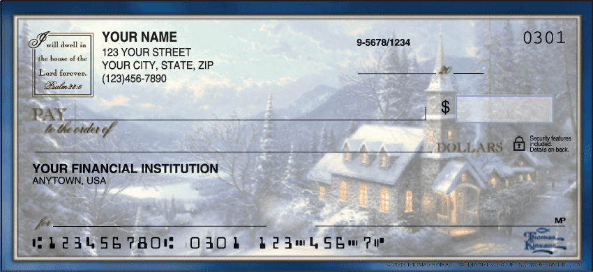 Thomas Kinkade Churches Checks - click to preview