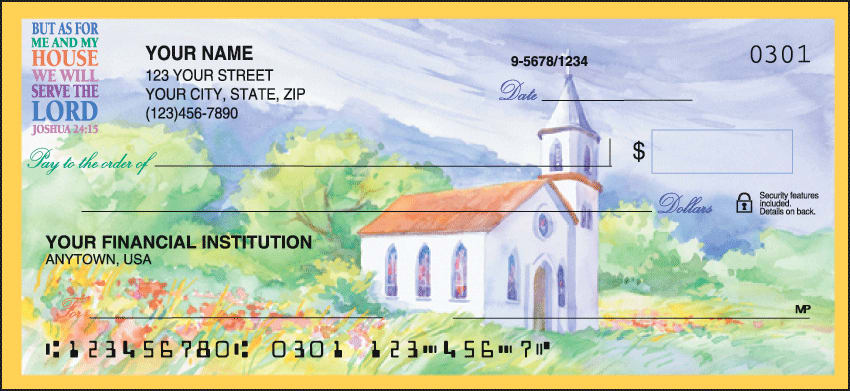 Country Churches Checks - click to view larger image