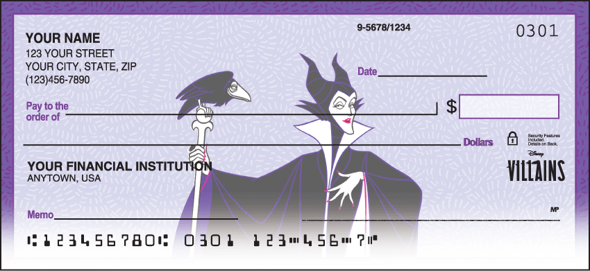 Enlarged view of Disney Villains Checks