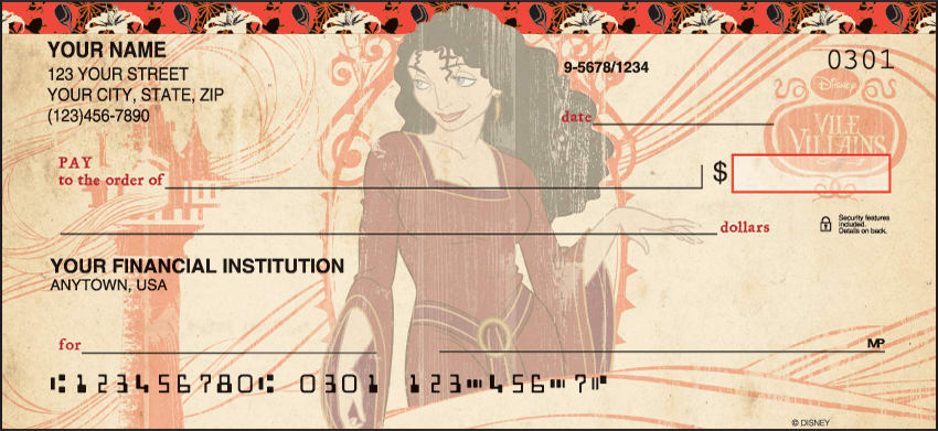 Disney Villains Checks - click to preview