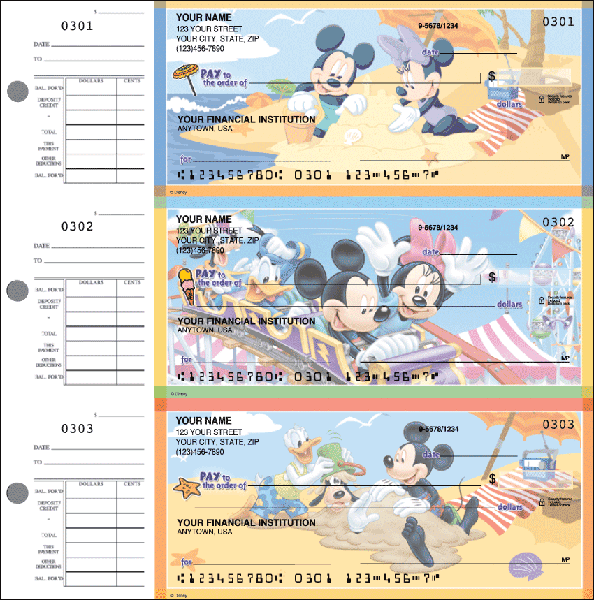 Mickey Mouse Desk Set Checks - click to view larger image