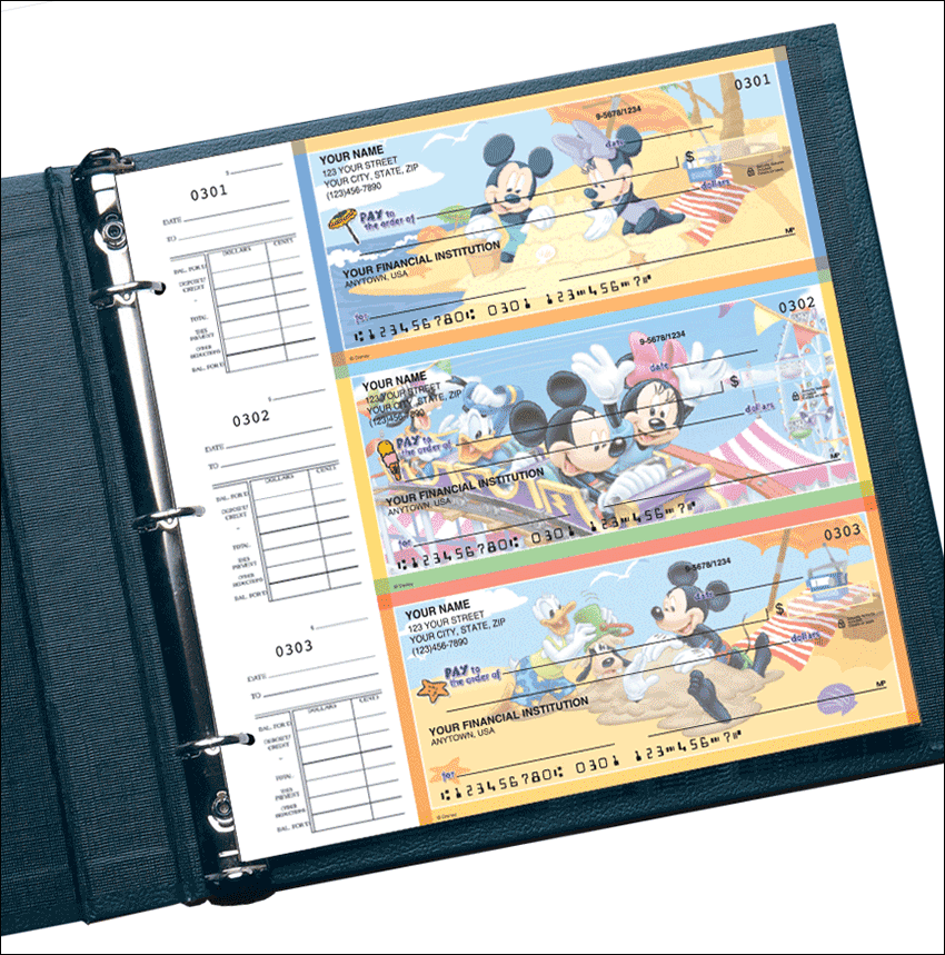 Mickey Mouse Desk Set Checks - click to preview