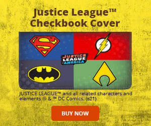 The Justice League Checkbook Cover