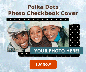 Polka Dots Photo Checkbook Cover