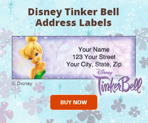Tinker Bell Address Labels