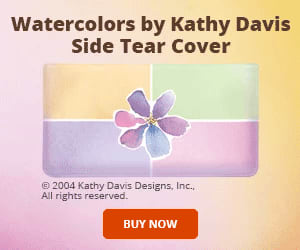 Kathy Davis Watercolors Side Tear Checkbook Cover