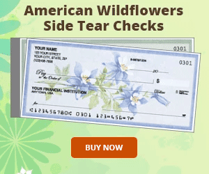 American Wildflowers Side Tear Checks