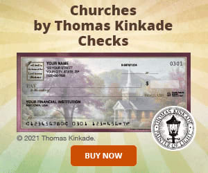 Thomas Kinkade Churches Checks