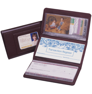 Burgundy Trifold Checkbook Cover – click to view product detail page