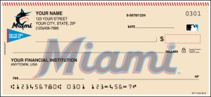 MLB - Miami Marlins Checks – click to view product detail page