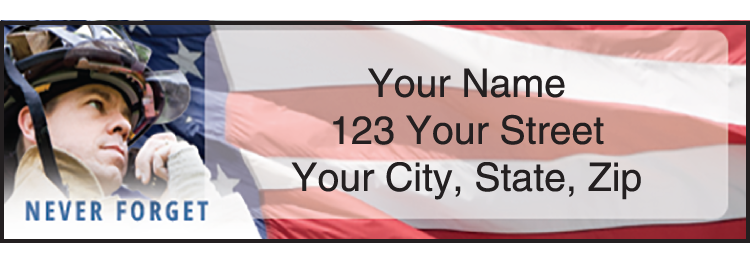 American Heroes Address Labels - click to view larger image