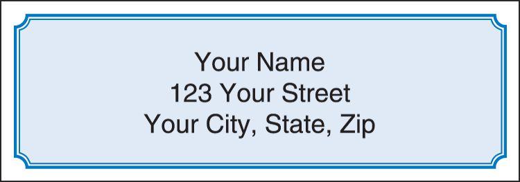 Blue Classic Address Labels