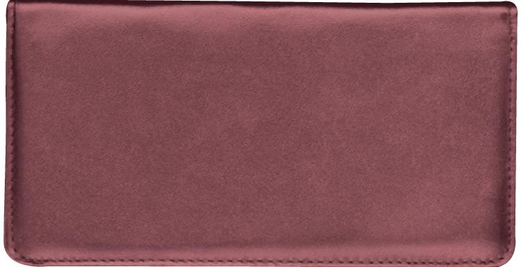Burgundy Checkbook Cover