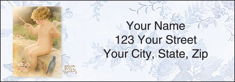 Bessie Pease Cherubs Address Labels - click to view larger image