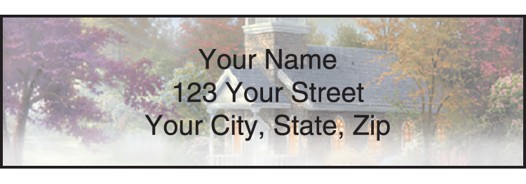 Thomas Kinkade Churches Address Labels
