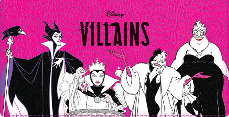 Disney Villains Checkbook Cover - click to view larger image