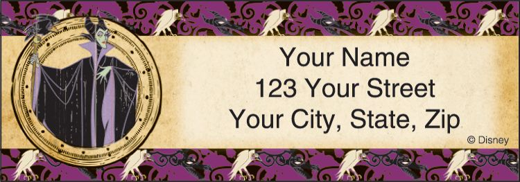 Disney Villains Address Labels - click to preview