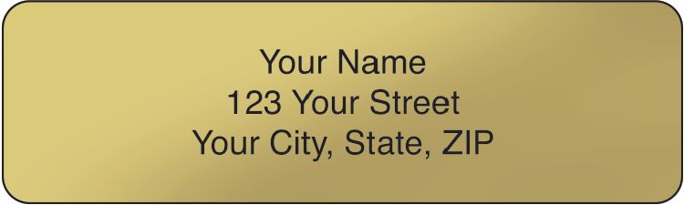Gold Rolled Address Labels - click to view larger image