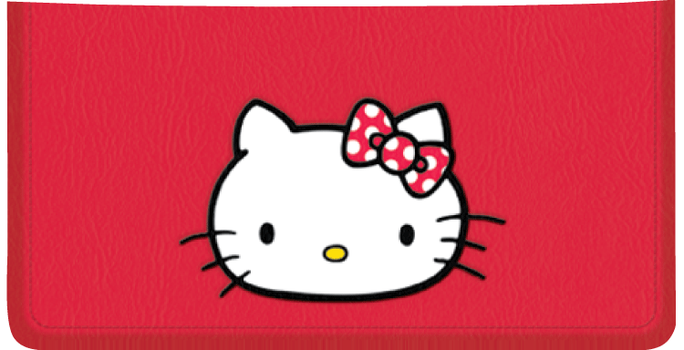 Hello Kitty Checkbook Cover - click to view larger image
