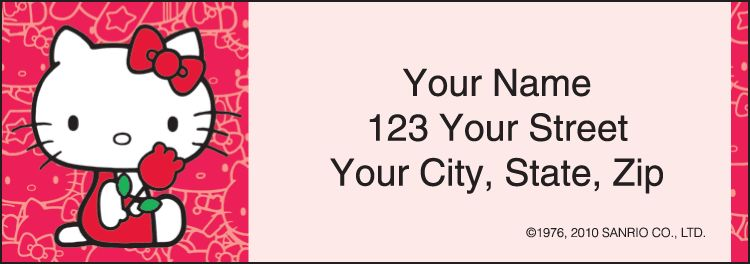 Hello Kitty Address Labels - click to view larger image