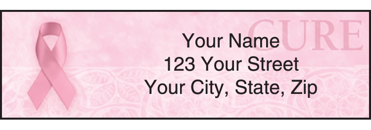 Hope for the Cure Breast Cancer Awareness Address Labels
