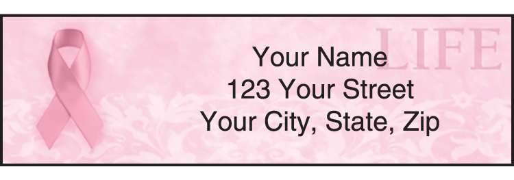 Hope for the Cure Breast Cancer Awareness Address Labels - click to preview