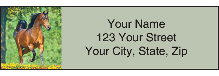 Horse Play Address Labels - click to preview