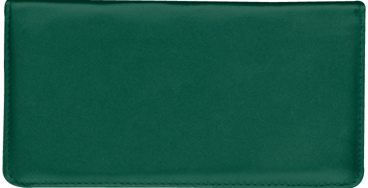 Hunter Green Checkbook Cover - click to view larger image