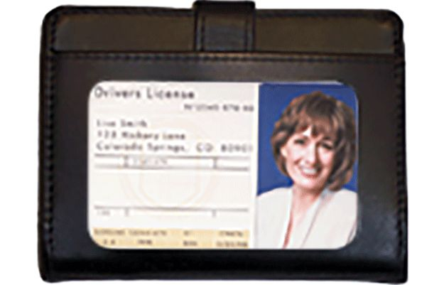Black RFID Leather Debit Organizer - click to view larger image