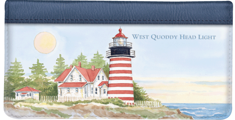 Lighthouses Checkbook Cover - click to view larger image