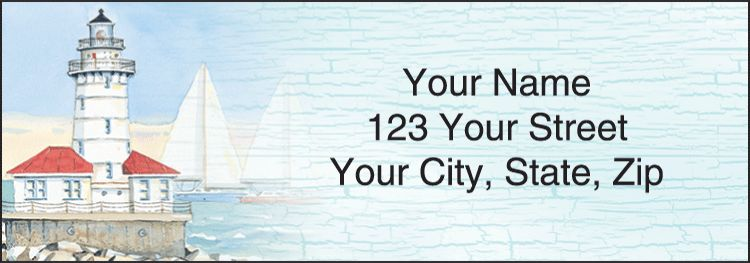 Lighthouses Address Labels - click to preview