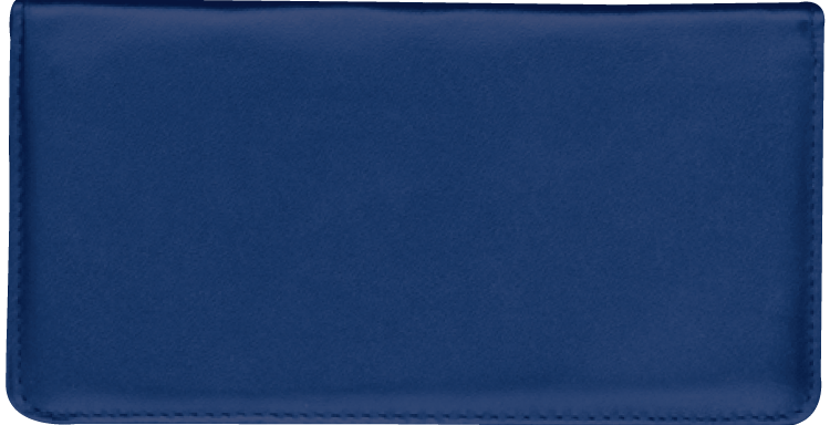 Navy Blue Side Tear Checkbook Cover - click to view larger image