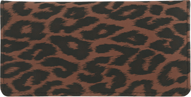 Animal Print Checkbook Cover - click to view larger image
