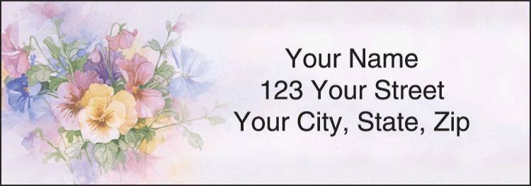 Pansies Address Labels - click to view larger image