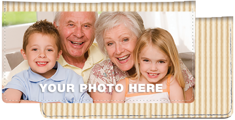 Tan Stripes Photo Checkbook Cover - click to view larger image