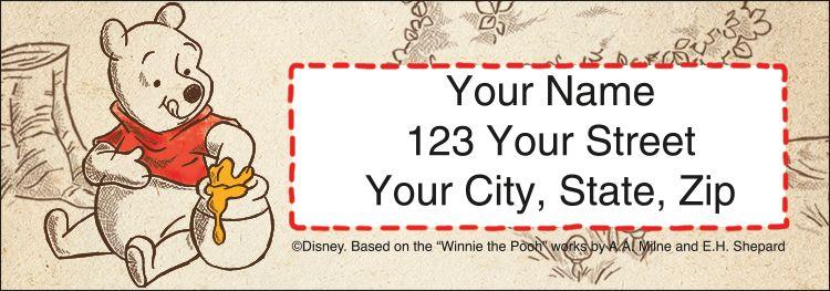 Winnie the Pooh Address Labels