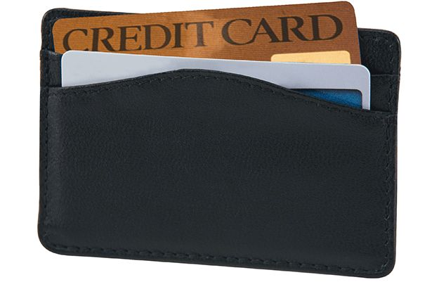 Black RFID Credit Card Sleeve