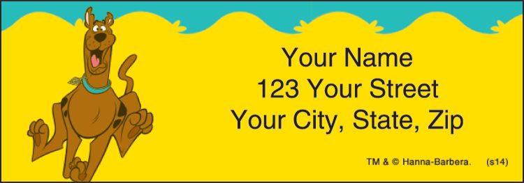 Scooby-Doo Address Labels - click to preview